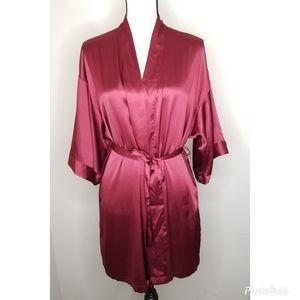 Victorias Secret 3/4 Satin Short Kimono Robe